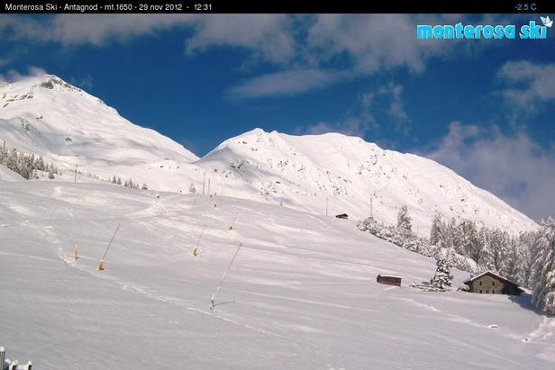 Monterosa Ski - Antagnod webcam, Nov. 29
