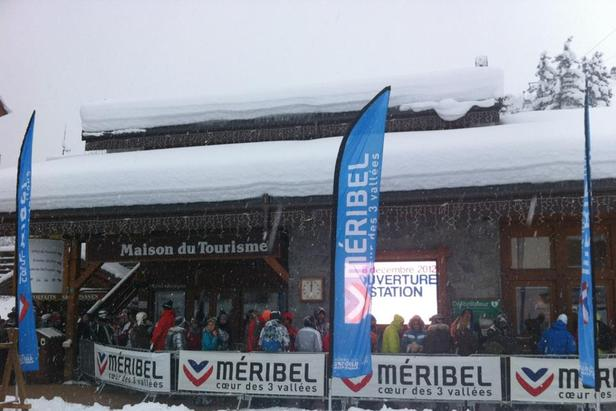 Meribel-Mottaret Tourist Office on opening day. Dec. 8, 2012 - ©Meribel