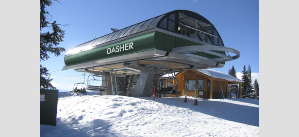 Granite Peak opens a new quad lift this season. Named Dasher, it serves the area's western slopes. - ©Granite Peak