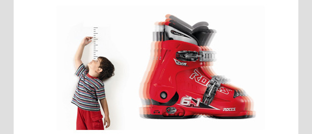 Roces Idea, scarpone da sci allungabile - ©Roces