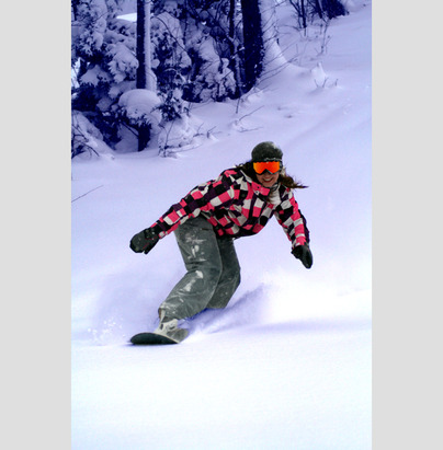 Snowboarding at Indianhead Mountain. - ©Indianhead Mountain