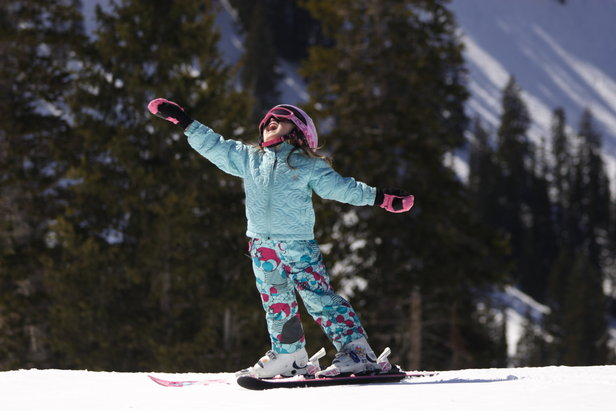 Girl skiing at Brighton Resort