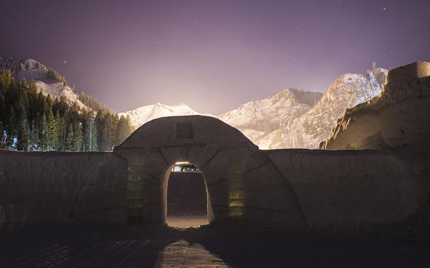 Squaw Valley's 5,000 squaw foot snow castle.  - ©Matt Palmer