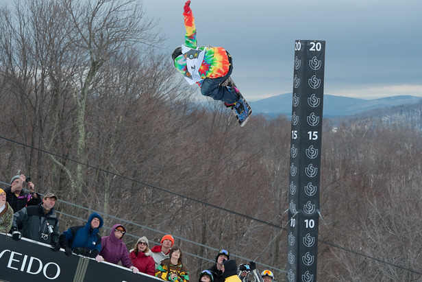 The Vermont Open will feature rail jam, halfpipe and banked slalom events for riders of all ages. Photo: Hubert Schriebl / Courtesy Stratton Mountain.