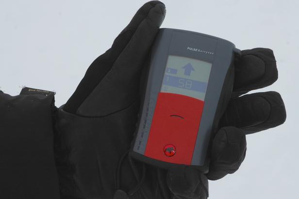 Mobiltelefonen stör lavinsändaren i sökläge!