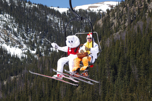 The Easter Bunny visits Arapahoe Basin each spring.