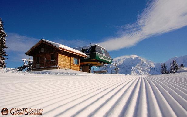 gervais mont blanc photos de la station sur le domaine skiable de st gervais skiinfo