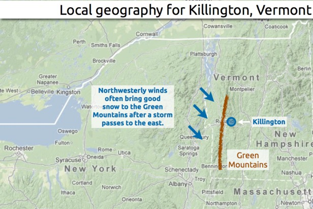 Learn how to predict snowfall totals in Killington. - ©OpenSnow.com