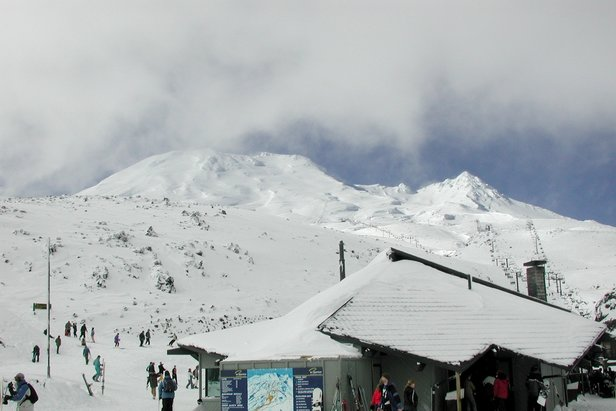 The base area of Mt Ruapehu's Turoa ski field in New Zealand.