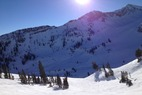 by anonymous user - bluebird day, snow is