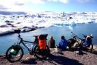 Wandern auf Island:Schwarz auf weiß:Lava und Eis - ©Andrea Reck