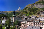Das Dorf Zermatt