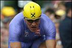 Hermann Maier auf 'Ulles' Spuren - Skistar bei der Tour de France 2004 - ©Lang/Milka