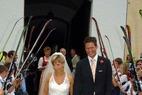 Doppelinterview mit Martina Ertl und Sven Renz nach ihrer Hochzeit - ©Skiclub Lenggries