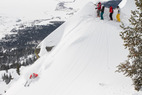 Steep and Deep Camp in the Crags at Jackson Hole Mountain Resort with instructor David Ellerstein. Photo Courtesy of Jackson Hole Mountain Resort.