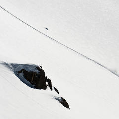 Fresh lines at Valle Nevado, Chile