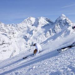 Ski total auf 3.303 Metern in St Moritz (Corvatsch - ©ENGADIN St. Moritz