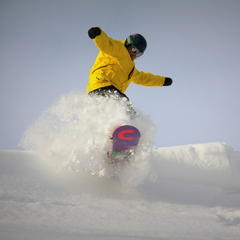 Snowboarder at Crystal Mountain, Michigan - ©Crystal Mountain