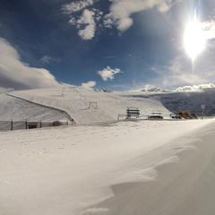 Snowfall in the Alps Oct. 15, 2014