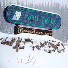 Wolf Creek powder skiing