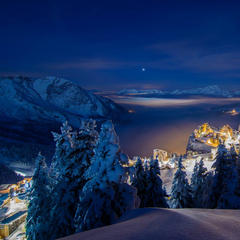 Aktuelles Bild aus Avoriaz bei Nacht - ©Facebook Avoriaz