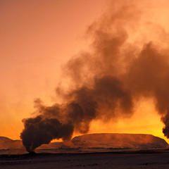 Dampfende Minivulkane auf Island - ©Norbert-Eisele Hein