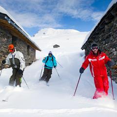 ski hors piste les Menuires - ©Gilles Lansard