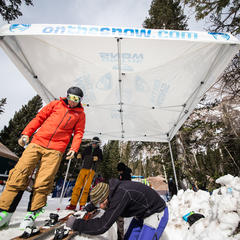 Ski Test binding techs - ©Liam Doran