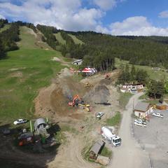chantier telesiege des crêtes le grand puy - ©Station de ski du Grand Puy / Cyril Isoard