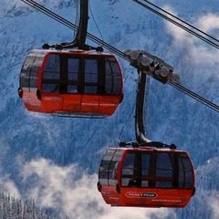 Whistler's Peak2Peak lift joins Whistler and Blackcomb Mountains.