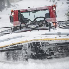 Snowcats are in full effect at Squaw early season.