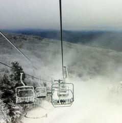 Early season snowmaking at Killington. Photo Courtesy of Killington Resort.