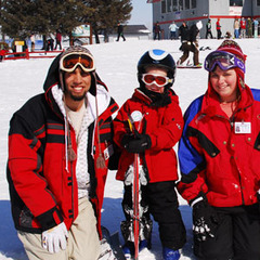 Group of skiers at Powder Ridge, Minnesota