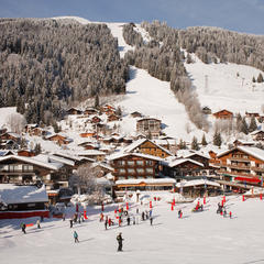 Skiing at Les Gets, Portes du Soleil