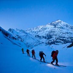 Aufstieg vom Refuge d'Avérole zum Albaron, Vallon d'Avérole, im Hintergrund Pointe de Charbonnel, Haute Maurienne - ©Iris Kürschner