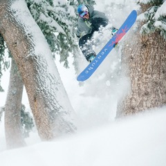 Yancey Caldwell loves the new snow at Sun Valley. - ©Tal Roberts