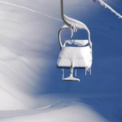 Chairlift weighed down with snow in Artesina-Mondolè Ski. Dec. 2, 2012