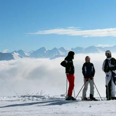 Blue skies and plenty of snow in Kitzbuehel. Dec. 1, 2012