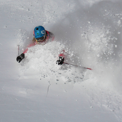 Above normal snowfall brought powder to Jackson Hole. Photo courtesy of Jackson Hole Mountain Resort.