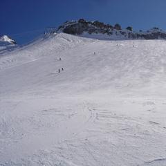La vastità della pista sul ghiacciaio Presena - ©A. Corbo