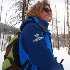 Martha Crocker is an instructor and guide with Lone Mountain Ranch. Photo by Becky Lomax.