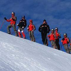 Lech: Skilehrer und Schüler, Skischule Lech