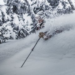 Powder last week at Crystal Mountain, Washington. Photo by Truc Nguyen Allen, courtesy of Crystal Mountain Resort.