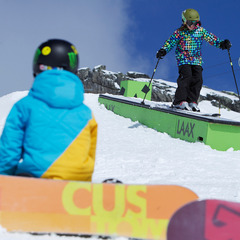 Kids in the funpark in Laax