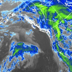 Storms are lined up off the Pacific coastline. - ©OpenSnow.com