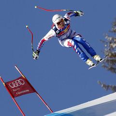 Johan Clarey schied mit Zwischenbestzeit in der Kitzbühel-Abfahrt aus - ©Agence Zoom / Alexis Boichard