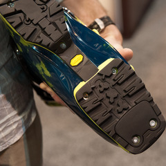 The Scarpa Freedom SL will come with tech-compatible Vibram soles.