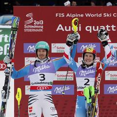 Podium Slalom Herren - ©Christophe Pallot/Agence Zoom