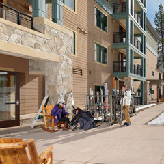 Kids and adults have easy access to the mountain from the Constellation Residences at Northstar, in Lake Tahoe, California.