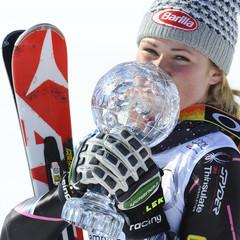 Mikaela Shiffrin mit ihrer Slalom-Kugel - ©Alain Grosclaude/AGENCE ZOOM